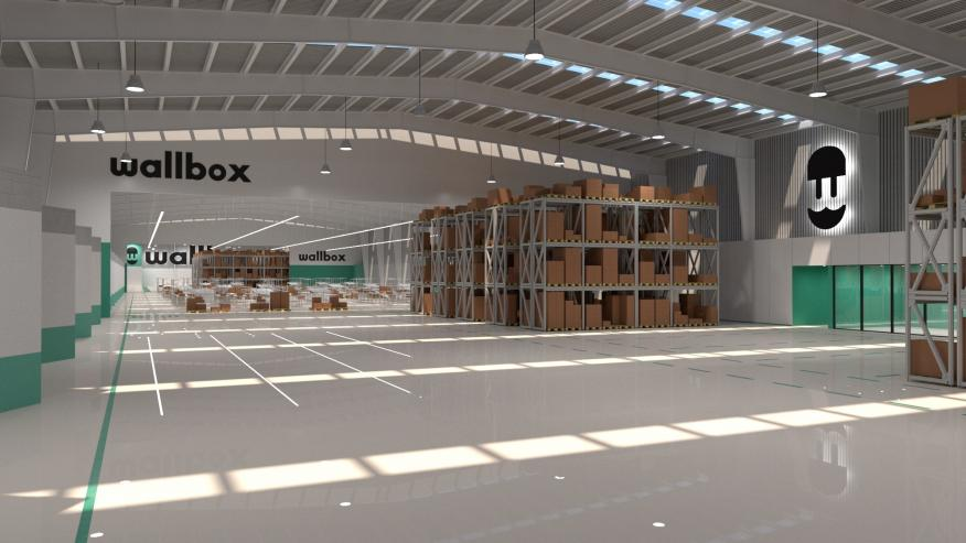 Imagen del diseño de la futura fábrica de Wallbox en Barcelona