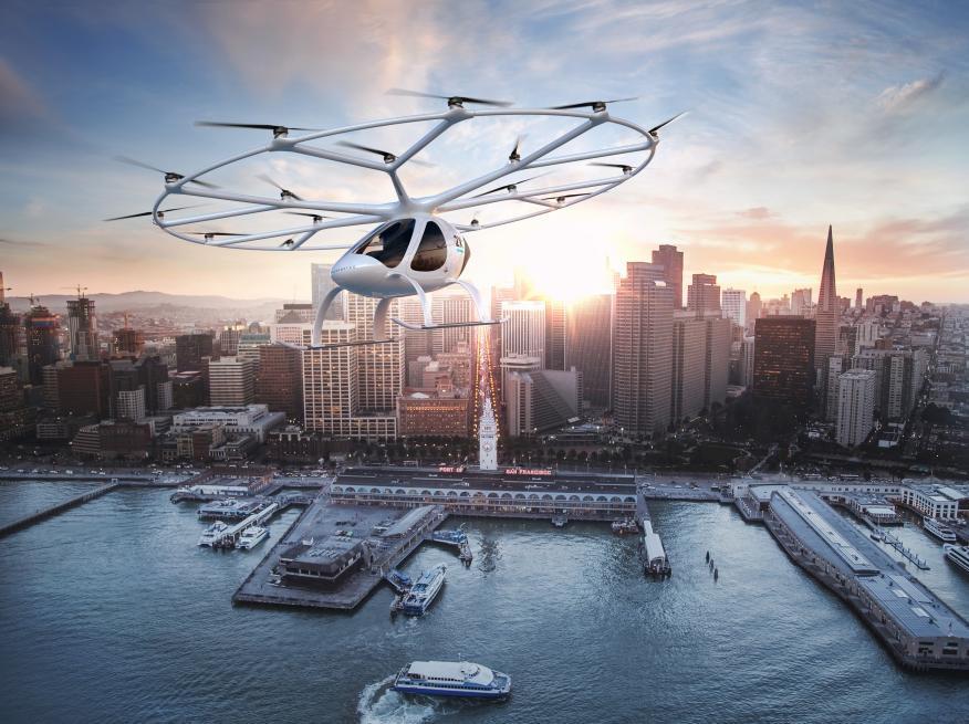 Imagen de VoloCity, la aeronave urbana de Volocopter