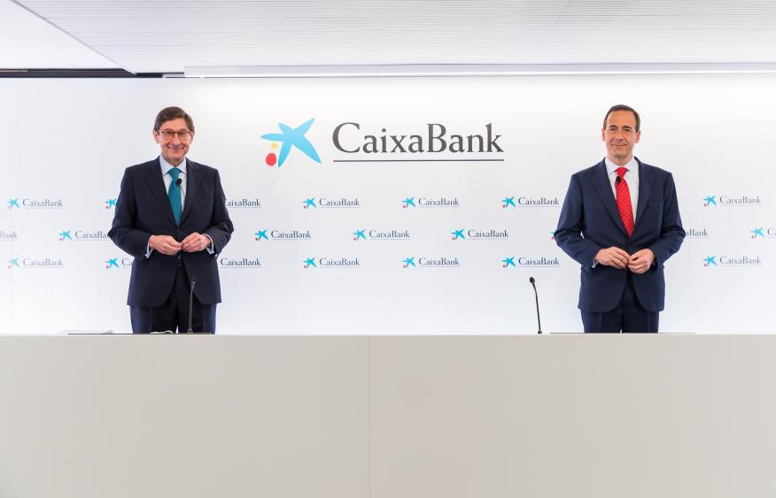 José Ignacio Goirigolzarri y Gonzalo Gortázar, presidente y consejero delegado de la entidad resultante de la fusión de Bankia y CaixaBank (CaixaBank)