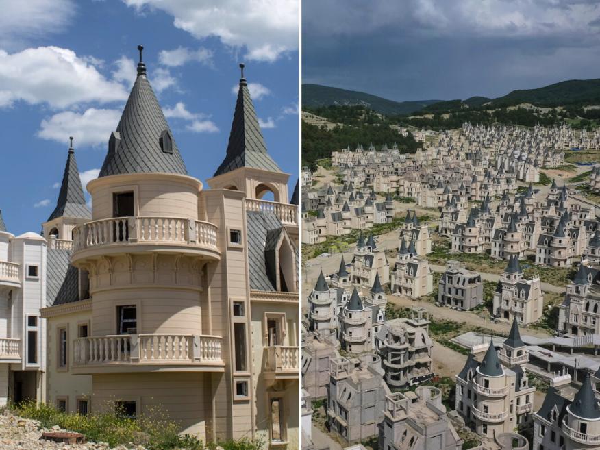 Cerca de la pequeña ciudad de Mudurnu, en Turquía, hay cientos de castillos abandonados.