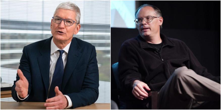 Tim Cook, CEO de Apple y Tim Sweeney, CEO de Epic Games.