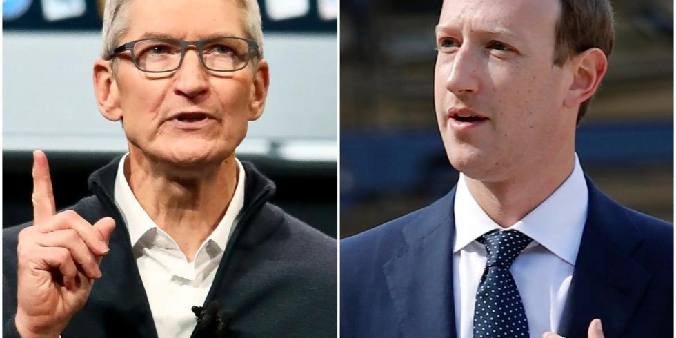 Tim Cook Mark Zuckerberg
